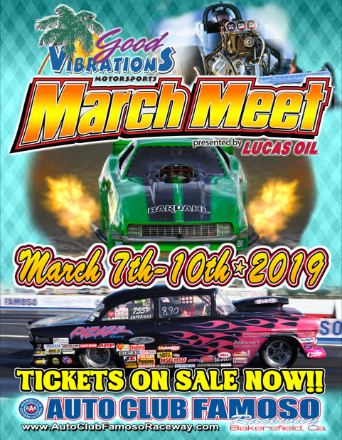 poster of 2019 Good Vibrations Motorsports March Meet