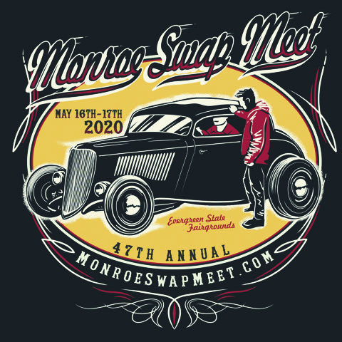 shirt logo for 47th Annual Monroe Auto Swap Meet